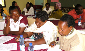 Female coffee farmers take part in training programme